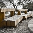 Wood Benches — Stock Photo
