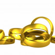 Gold Wedding Rings, Clipping Path. — Stock Photo