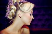 Beautiful girl with a wedding hairdo — Stock Photo