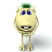 Boneco 3d do personagem engraçada está rindo — Foto Stock
