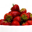 Zoomed foto of strawberry in white studio — Stock Photo #6126600