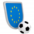 Europe shield soccer isolated — Lizenzfreies Foto