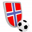 Norway shield soccer isolated — Zdjęcie stockowe