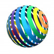 Close up of a rainbow  sphere — Stock Photo