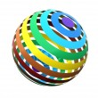 Stock Photo: Close up of rainbow sphere