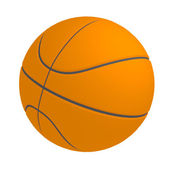 Basketball ball isolated — Stock Photo