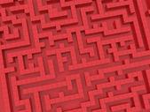 красный лабиринт — Стоковое фото