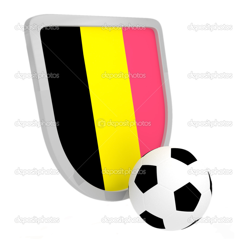 Belgium shield soccer isolated on a white background — Stock Photo #5768955