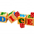 Dice Wooden Blocks — Stock Photo