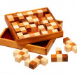 Puzzle of the wooden bars - Stock Photo