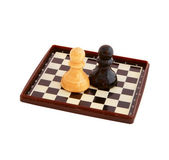 The chess pieces — Foto Stock