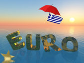 Current Euro crisis with Greece — Stock Photo