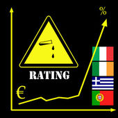 Rating Agencies and the Euro — Stock Photo