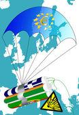Euro crisis in Europe — Stock Photo