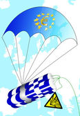 The Euro crisis and Greece — Stock Photo