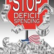 The fiscal crisis in the USA — Stock Photo