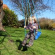 Stock Photo: Child swing garden