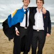 Graduation. Student graduating cap gown — Stock Photo