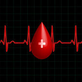 Donor blood — Stock Vector