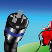 Elektroauto — Stockvektor