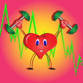 Athletic coeur — Vecteur