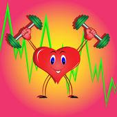 Corazón atlético — Vector de stock