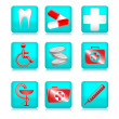 Royalty-Free Stock Vector Image: Blue Medical Icons