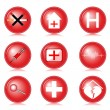 Medical icons — Stock Vector #6629195