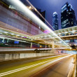 Traffic in Hong Kong at night — Stock Photo #5432456
