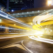 Traffic in Hong Kong at night — Stock Photo #5432463