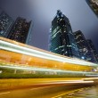 Traffic in Hong Kong at night — Stock Photo #5472048