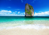 Poda island and tropical fishes — Stock Photo