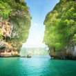 Rockson Railay beach in Krabi Thailand - Foto Stock