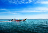 Boat in tropical sea of Thailand — Stock Photo