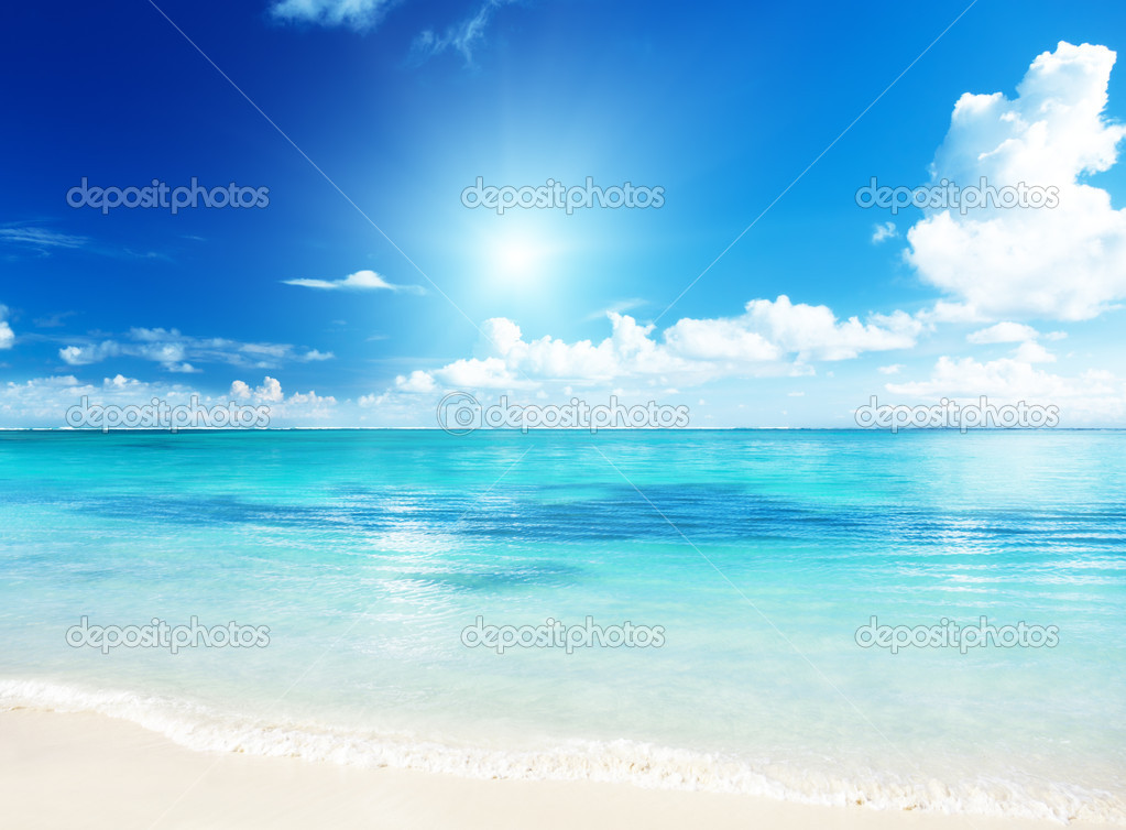Sand of beach caribbean sea — Stock Photo #6450722