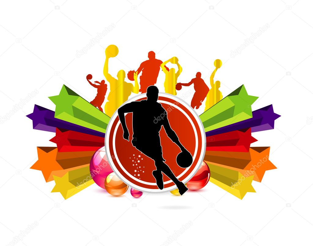 Sport basketball team sign on the white — Stock Vector #5716360