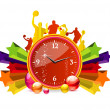 Chronometer red color — Stock Vector #5723835