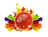 Chronometer red color — Stock Vector