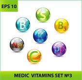 Zestaw tabletek medyk — Wektor stockowy