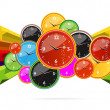 Colored and creative clocks — Stok Vektör #5941301