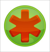 Medic symbol emergency red color isolated — Stock Vector