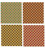 Conjunto de textura patrón clásico y retro — Vector de stock