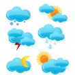 Weather symbols set — Stock Vector