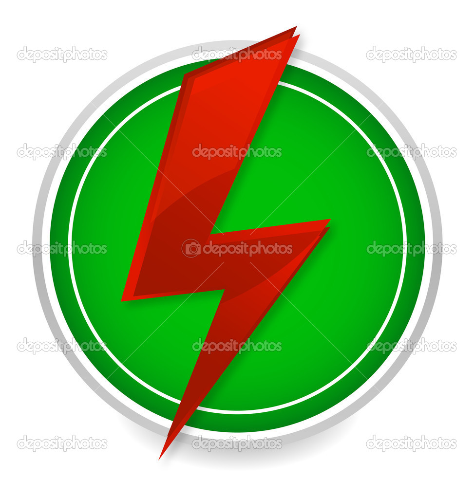 Power energy symbol red and green color — Stock Vector © kednert ...