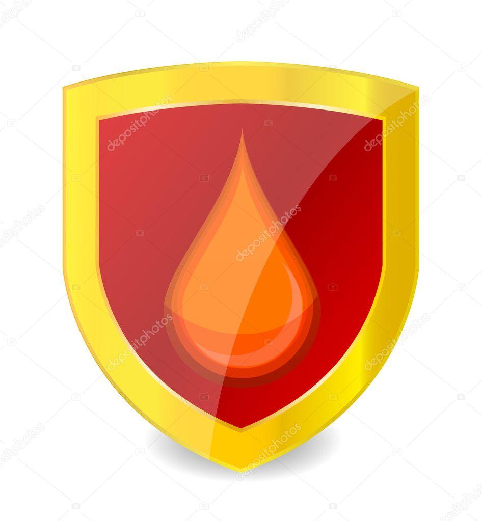Sanitäter symbol  Sanitäter Symbol Blut Tropfen rot — Stockvektor © kednert #6481207