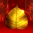 Stock Photo: Yellow gold leaf ( bodhi leaf )