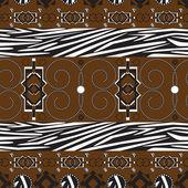 Fond d'ornement stile afrique — Vecteur