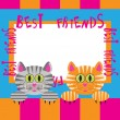 Greeting card with cats — Stock Vector #5561749