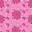 Royalty-Free Stock Vector Image: Seamless pattern with cute pigs