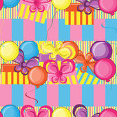 Happy Birthday seamless background — Stock Vector